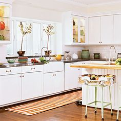 White cabinetry and