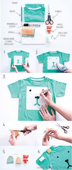 DIY Teddybear T-Shir