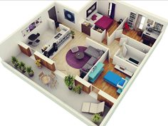 We Feature 50 Three Bedroom Home Plans In This Mive Post Also Includes Links To 1 2 And Studio Apartment Floor
