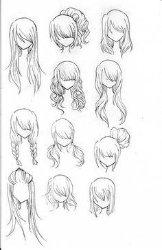 anime hairstyles on pinterest anime hair anime eyes and drawing hair