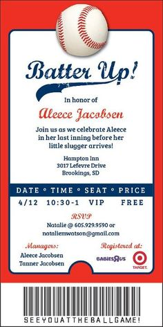 Free Baseball Ticket Template. baseball ticket place cards seating ...