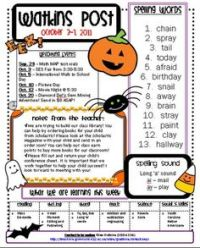 halloween themed newsletter template