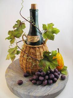 1000 Images About Wine Bottle Cake On Pinterest Wine