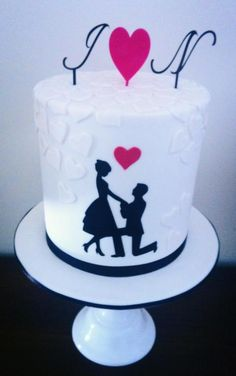 1000 Images About Simple Engagement Cakes On Pinterest