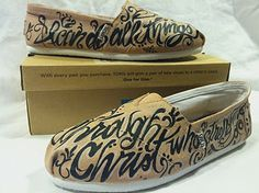 Toms shoes with Phi
