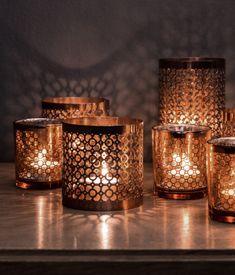 copper tea light hol