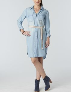 1000 Images About Denim Trends On Pinterest Chambray Cigarette Jeans And Belted Shirt Dress