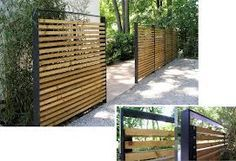 mild steel metal fence modern design garden ideas on modern fence ideas highlighting your house with most shared privacy fence designs id=26657