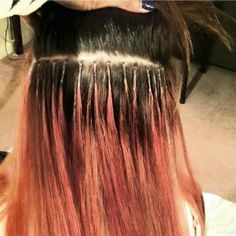 individual strand by strand extensions for 6 months with monthly maintenance laxers