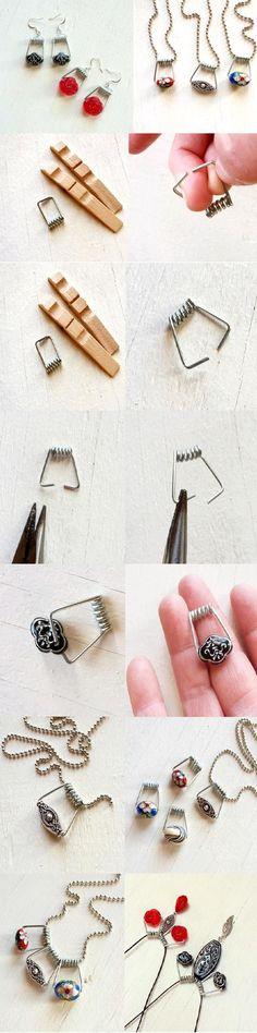 DIY Clothespin Jewel