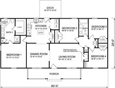 Small 4 Bedroom House Plans Bedroom Style Ideas