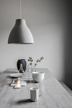Minimal grey dining