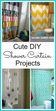 15 DIY Shower Curtain Projects Anyone Can Make Decorating Files DIYshowercurtain DIY