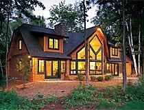 Cedar Home With Black Trim Log Home Designs Log Home