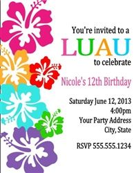 Luau Themed Baby Shower Invitations PaperInvite