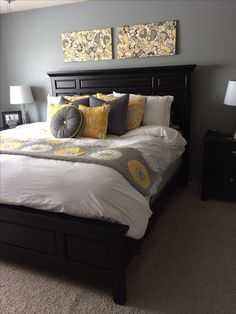 15 Gorgeous Grey Turquoise And Yellow Bedroom Designs Deer
