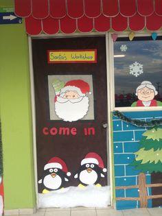 Santa S Workshop Decorating Ideas Santas Workshop Door