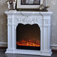 View 62 Grand White Electric Fireplace Deals At Big Lots
