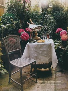 Image result for dinner in a paris garden