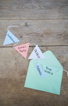 DIY – Fun invitation
