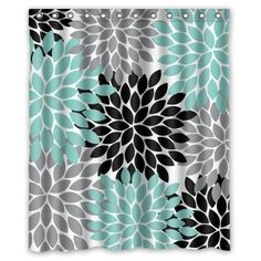 Posters Black And White And Teal Teal Canvas Floral Wall