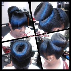 Buns Ponytails Amp Updos On Pinterest Buns Updo And Bangs
