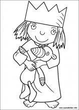 Ausmalbilder Von Kleine Prinzessin Zum Drucken