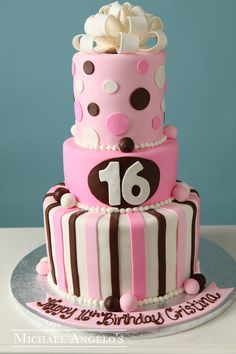 1000 Images About Sweet 16 Birthday Cakes On Pinterest