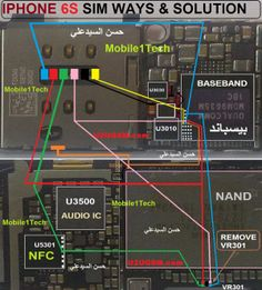 iPhone 6 Full PCB cellphone Diagram Mother Board Layout