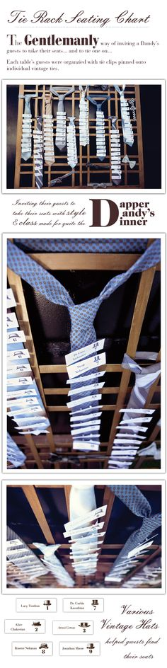 tie rack seating cha