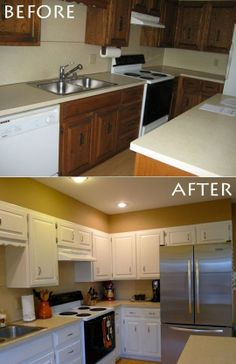 Want This Paint Look On My Kitchen Cabinets But With A Color Favorite Places Es And Colors