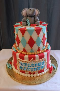 An Incredible Vintage Traveling Circus Baby Shower BABY