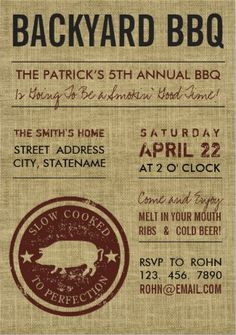 Free BBQ Party Invitation Templates BBQ Pinterest