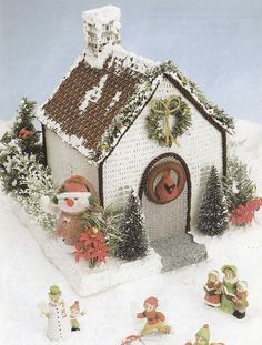 Gingerbread House Crochet Pattern Santa Wallhanging