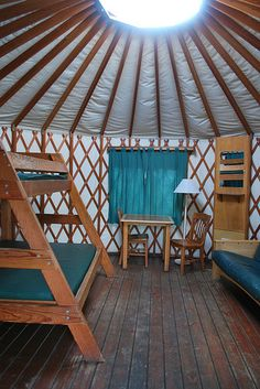 Inside The Yurt At Valley Of The Rogue State Park Near