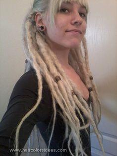 white blonde dreads i like this fringe shape