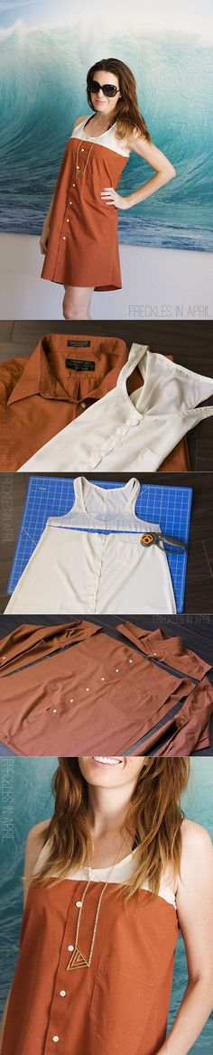 Переделка рубашки в