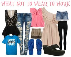 1000 images about What NOT to Wear to Work on Pinterest