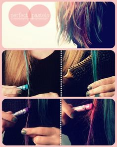 1000 images about chalk hair highlight on pinterest dip dye pink hair and dye hair