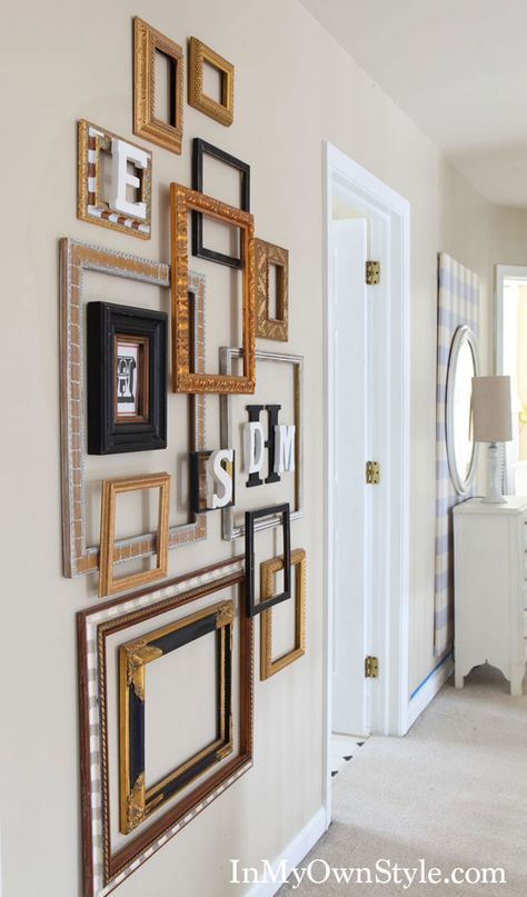 empty frames diy wall art by laura z on pinterest on wall art id=77401
