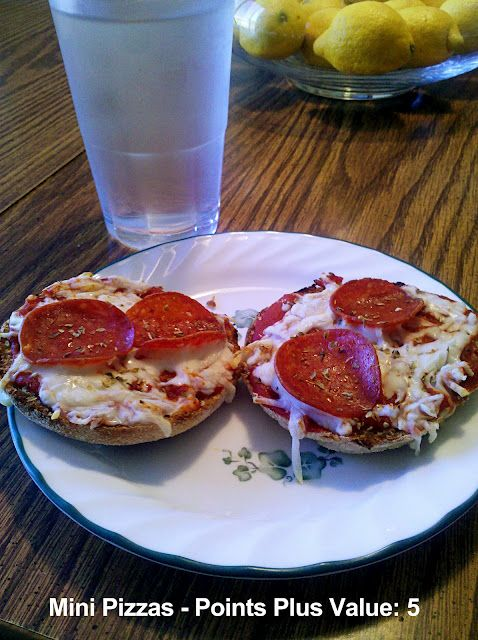Healthy Mini Pizzas – Weight Watchers Points Plus Value of 5