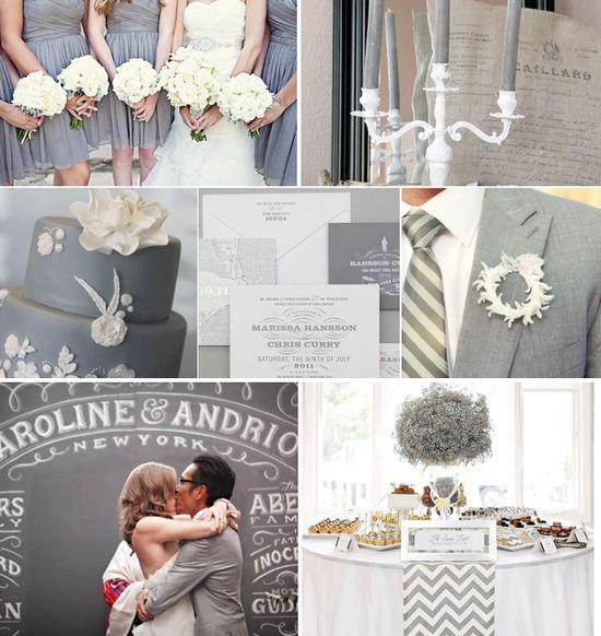 Grey Wedding Inspiration – Grey Bridesmaid Dress, Grey Wedding Cake, Grey Weddin