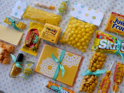 Box of Sunshine: Such a cute idea to lift someone's spirits, especially if t