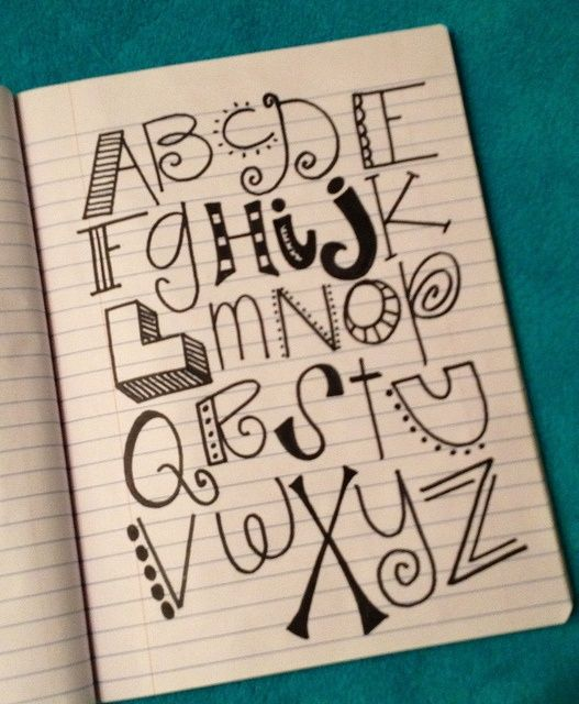 Handwriting ideas for letters