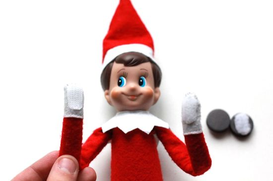 How to add wire, Velcro and magnets to Elf on a Shelf so that he's more pose