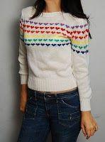 80's Rainbow Heart Shirt – everyone had this!