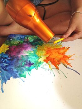 Crayon Art. this one is really cool