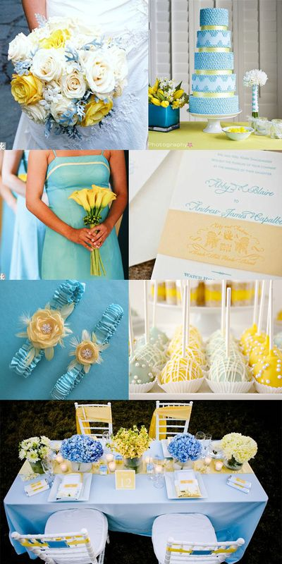 Lovely light blue and yellow wedding inspirations