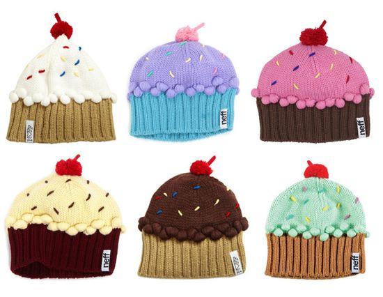 Cupcake Beanies – kind of amazing.
