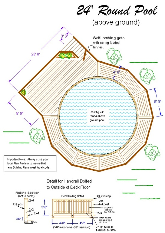 above ground pool deck plans 2012